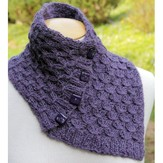 Lisa Ellis Designs A-32 Buttoned Neck Wrap and Scarf PDF