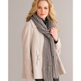 Stacy Charles Fine Yarns Indulgence Ribbed Scarf (Free)