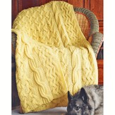 Fiber Trends 111LC Reversible Cabled Afghan