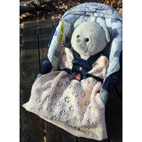 Two Infant Car Seat Blankets to Knit PDF