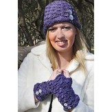 Hooked for Life Fiona Hat & Fingerless Mitts PDF