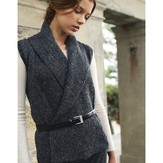 Jo Sharp Wide Collar Vest and Cardigan PDF