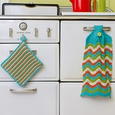 Juniper Moon Farm Old Shale Kitchen Towel & Stripey Potholder PDF