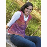 Knit One Crochet Too 1864 Faux Mitered Vest