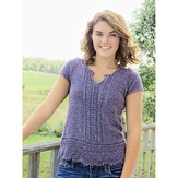 Knit One Crochet Too 2202 Mock Lace Up Tee