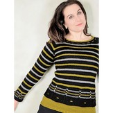 Knit One Crochet Too 2268 Windows & Stripes Pullover