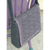Valley Yarns 141 Purple Maze Messenger Bag