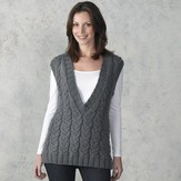 Valley Yarns 302 Smokehouse Cabled Vest