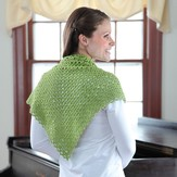 Valley Yarns 363 Pincushion Moss Crocheted Shawl
