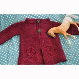 Knitting School Dropout Greenfield Baby Cardigan PDF