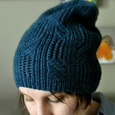 Knitting School Dropout Twisted Vines Hat PDF