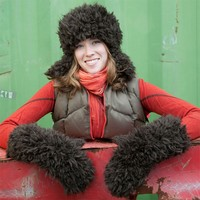 115 Fur Hat and Mittens