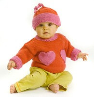 212 Heart's Delight Pullover And Hat