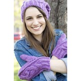 Mirasol Cable Hat and Mittens PDF