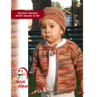 1079 Heirloom Smocked Child's Sweater & Hat PDF