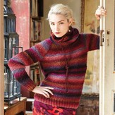 Noro Garter Pullover with Cowl PDF