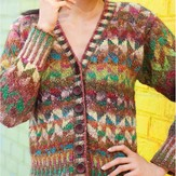 Noro Colorwork Cardigan PDF