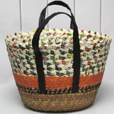 Lantern Moon Fiber and Recycled Paper Tote