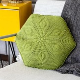 Linda Permann Hexagon Flower Pillow PDF