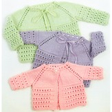 Plymouth Yarn 1354 Top Down Baby Jacket