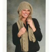 1844 Slouchy Tam and Scarf