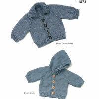 1873 Encore Chunky Top Down Baby Jacket