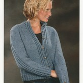 Plymouth Yarn 1875 Mock Cable Cardigan