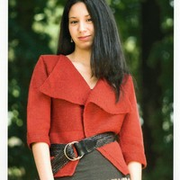 1972 Encore Worsted Woman's Simple Jacket