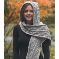 2080 Royal Llama Silk Hooded Scarf