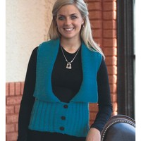 2094 Encore Worsted Woman's Cabled Vest