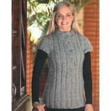 Plymouth Yarn 2100 Baby Alpaca Grande Tweed Woman's Cabled Tunic