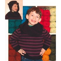 2133 Encore Worsted Kid's Striped Hoodie