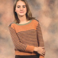 2157 Jeannee Worsted Teen's Pullover