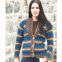 2174 Taria Tweed Woman's Striped Cardigan
