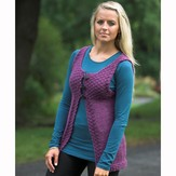 Plymouth Yarn 2275 Women's Simple Vest