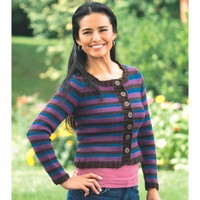 2279 Woman's Double Striped Cardigan