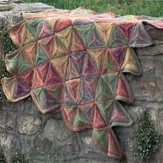 Plymouth Yarn 2387 Modular Triangle Throw