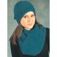 2402 Bramble Stitch Hat & Infinity Scarf