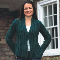 2451 Woman's Cabled Cardigan