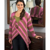 Plymouth Yarn 2455 Woman's Drape Front Cardigan