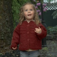 2468 Child's Top Down Raglan Cardigan
