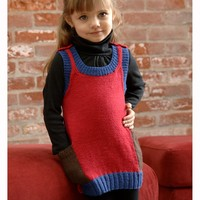 2554 Girl's Colorblock Dress (Dreambaby DK)