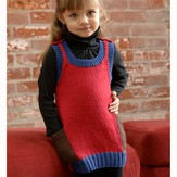 Plymouth Yarn 2554 Girl's Colorblock Dress (Dreambaby DK)