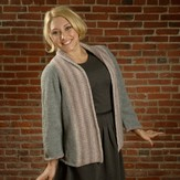Plymouth Yarn 2555 Shawl Collar Cardigan (Encore Colorspun & Worsted)