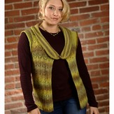 Plymouth Yarn 2604 Woman's Lace Vest