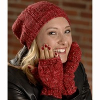 2611 Cable Rib Hat and Flip Top Mitts