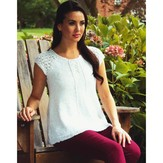 Plymouth Yarn 2654 Women's Raglan Henley