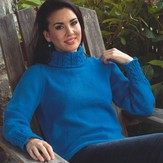Plymouth Yarn 2658 Women's Cable Detail Pullover