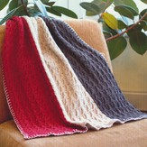 Plymouth Yarn 2693 Vertical Stripe Throw & Afghan