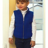 Plymouth Yarn 2718 Kid's Zippered Guernsey Vest
